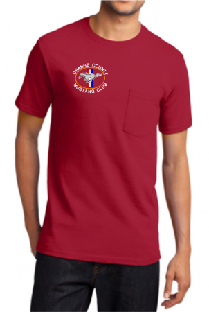Pocket Tee Front Red
